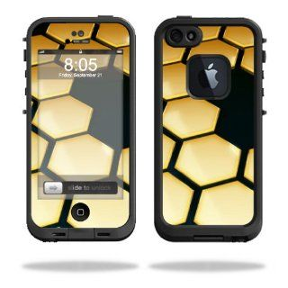 MightySkins Protective Vinyl Skin Decal Cover for LifeProof iPhone 5 Case 1301 fre Sticker Skins Honeycomb Cell Phones & Accessories
