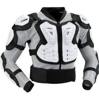 Fox Racing Titan Sport Jacket Men's Roost Deflector Motocross/Off Road/Dirt Bike Motorcycle Body Armor   White / X Large Automotive