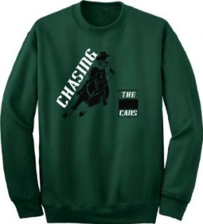 Barrel Racing Chasing the Cans Horse & Rider Green Sweatshirt Clothing