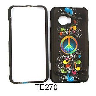 Rainbow Peace Symbol and Music Notes on Black Cell Phones & Accessories