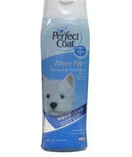 Perfect Coat White Pearl Dog Shampoo, 16 Ounce  Pet Shampoos Plus Conditioners