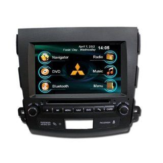 OEM REPLACEMENT IN DASH RADIO DVD GPS NAVIGATION HEADUNIT FOR MITSUBISHI OUTLANDER WITH REAR VIEW CAMERA  In Dash Vehicle Gps Units  GPS & Navigation