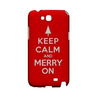 [Geeks Designer Line] Red Merry On Samsung Galaxy Note 2 Plastic Case Cover [Anti Slip] Supports Premium High Definition Anti Scratch Screen Protector; Durable Fashion Snap on Hard Case; Coolest Ultra Slim Case Cover for Galaxy Note 2 Supports Samsung Note