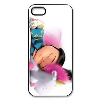 Despicable Me Minion Agnes Gru Sleeping Pink Bacground Protector for Iphone 5 5s At&t Sprint Verizon hard case fashion Popular plastic durable cover creative gift ultrathin Personalized High Quality by iDesign Studio Cell Phones & Accessories