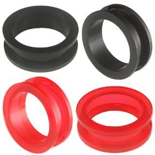 ear gauge tunnel 2 Pairs 1 inch 26mm Acrylic screw flesh plugs ring stretchers Expanders ASSE Jewelry Jewelry