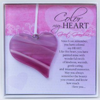 Mother's Day Gift I Love My Great Grandma Poem Keepsake Glass Heart   Color My Heart