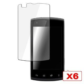 CommonByte 6PCS Clear LCD Screen Protector Cover Film Guard For Kyocera Rise C5155 Cell Phones & Accessories