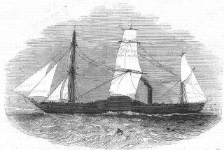 ROYALTY Her Majesty's steam frigate Penelope, antique print, 1843