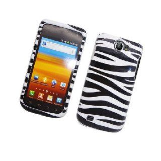 Samsung Galaxy Exhibit 4G T679 SGH T679 Black White Zebra Stripe Glossy Cover Case Cell Phones & Accessories
