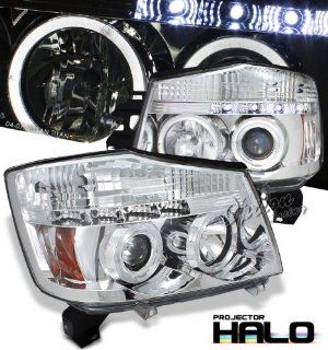 04 05 06 07 NISSAN TITAN / ARMADA DUAL HALO PROJECTOR LED HEADLIGHT LAMP Automotive