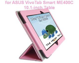 ASUS VivoTab Smart ME400C Tablet 10.1 Inch Tablet Custom Fit Portfolio Leather Case Cover with Built In Stand  Pink Computers & Accessories