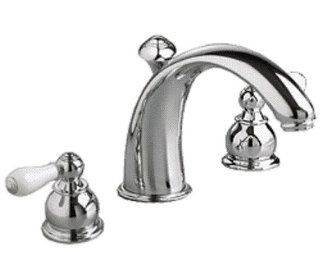American Standard 7881.712.002 Hampton Two Porcelain Lever Handle Widespread Faucet with Metal Speed Connect Pop Up Drain, Polished Chrome   Bathroom Sink Faucets