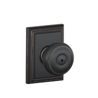 Schlage F40GEO716ADD Addison Collection Georgian Privacy Knob, Aged Bronze   Privacy Doorknobs