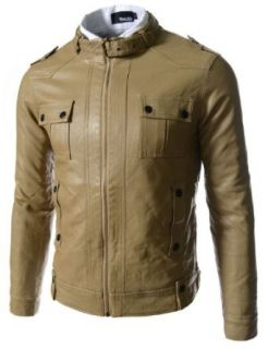 TheLees Mens Casual Slim Fit Rider Style Faux Synthetic Leather 706 Jacket at  Men�s Clothing store Faux Leather Outerwear Jackets