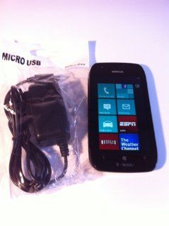 Nokia Lumia 710 GSM 3G Used Windows Phone Black T Mobile Cell Phones & Accessories