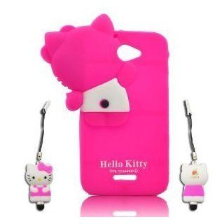 I need's 3d Hide seek Hello Kitty Cute Lovely Soft Case Cover for HTC One X S720e TPU Soft Case Cover with 3d Hello Kitty Stylus Pen, Hot Pink hot pink Cell Phones & Accessories