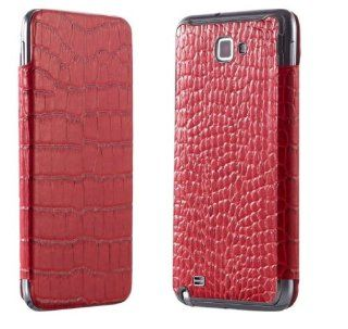 Sleek Design Genuine Leather Cover for Samsung Galaxy Note SGH I717   Red Cell Phones & Accessories