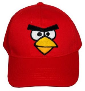 Angry Birds Robio Red Bird Face Video Game Adjustable Toddler Baseball Cap Hat Clothing