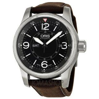 Oris Big Crown Timer Black Dial Brown Leather Mens Watch 735 7660 4064LS at  Men's Watch store.