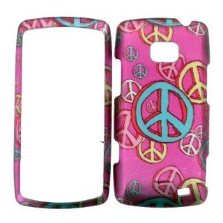 LG ALLY VS740 HARD PLASTIC COVER CASE PROTECTOR PERFECT FIT PEACE SIGNS Cell Phones & Accessories