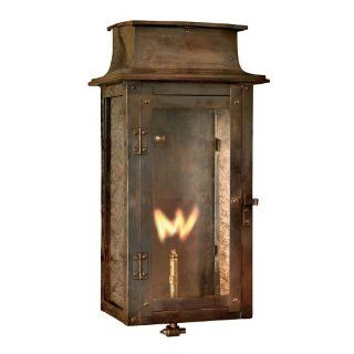 Elk Lighting 7941 WP Maryville 17 Inch Tall Outdoor Wall Mounted Gas Lantern, Washed Pewter   Landscape Torch Lights