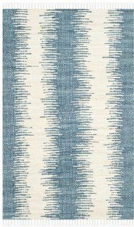 Safavieh MTK751A Montauk Collection Hand Woven Cotton Area Rug, 3 Feet by 5 Feet, Blue   Handmade Rugs