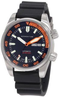 Momentum Men's 1M DV78O1B Innerspace Swiss Automatic Rubber Strap Watch Watches