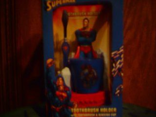Superman Toothbrush Holder Toothbrush & Rinse Cup (PLEASE SEE BOX CONDITION NOTES) Toys & Games