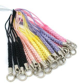20 Pcs Mixed Mobile Cell Phone Straps Lanyard 1mm Cords 3 1/4 Inch Long Braided with Strong Jump Ring
