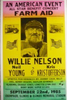 Farm Aid Poster Featuring Willie Nelson, Neil Young & Kris Kristoffererson   Prints