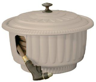Suncast 50 Foot Capacity Garden Hose Reel Pot Taupe HRP60  Box To Hide Water Hose In  Patio, Lawn & Garden