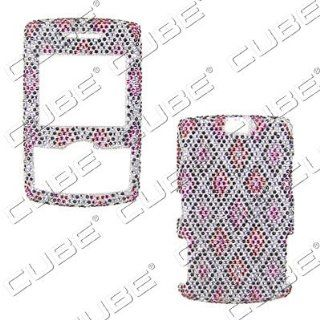 Samsung Propel a767 / a766   Designer Rhinestones/Diamonds/Bling   Red Black Silver   Hard Case/Cover/Faceplate/Snap On/Housing Cell Phones & Accessories