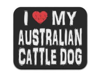I Love My Australian Cattle Dog Mousepad Mouse Pad Computers & Accessories