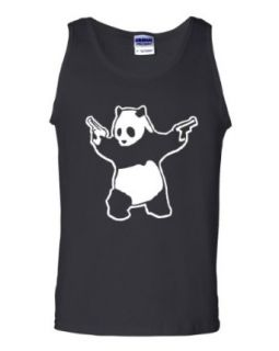 Panda Guns Second Amendment AR15 Black Tank Top T Shirt Clothing