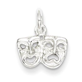Sterling Silver Comedy Tragedy Charm   JewelryWeb Clasp Style Charms Jewelry