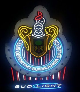 Chivas Guadalajara Mexico Real Glass Tube Neon Sign 53X33 Sports & Outdoors