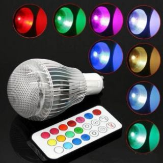 Vktech 9w 16 Colors Changing LED Light Bulb RGB Change Lamp with Remote Control   Led Household Light Bulbs