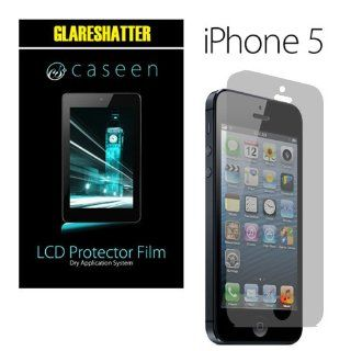 2x caseen Apple iPhone 5 GLARESHATTER Anti Glare & Anti Fingerprint Screen Protectors Computers & Accessories