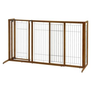 Richell Freestanding Deluxe Pet Gate with Door