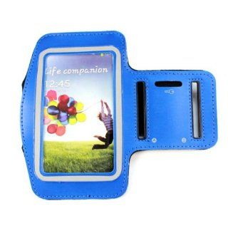 Functional New Sports Armband Back Case for Samsung Galaxy S4 I9500 (blue) Cell Phones & Accessories