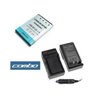 Combo Set Premium Np 20, Np20 Replacement Lithium ion Battery + Home Battery Charger with Car Adapter for Casio Digital Camera & Camcorder  Camera & Photo