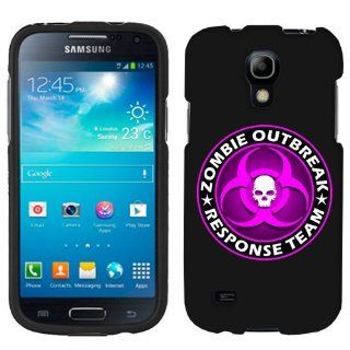 Samsung Galaxy S4 Mini Zombie OutBreak Response Team Pink on Black Phone Case Cover Cell Phones & Accessories