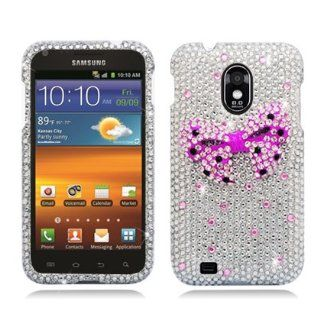 Aimo Wireless SAMD710PC3D816 3D Premium Stylish Diamond Bling Case for Samsung Galaxy S2/Epic 4G Touch/D710   Retail Packaging   Pink Bow Tie Cell Phones & Accessories