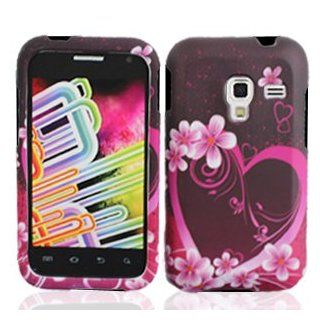 Bundle Accessory For MetroPCS Samsung Galaxy Admire 4G LTE R820   Purple Heart Design Hard Case Cover+ Lf Stylus Pen+ Lf Screen Wiper Cell Phones & Accessories