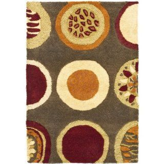 Safavieh Soho Collection SOH835A Handmade Brown New Zealand Wool Area Rug, 2 Feet by 3 Feet   New Zealand Favorites