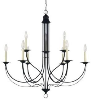 Sea Gull Lighting 31295 839 Chandelier with No Shades, Blacksmith Finish