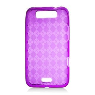 Pink Argyle Soft Skin TPU Gel Case Cover For LG Connect 4G MS840 Cell Phones & Accessories