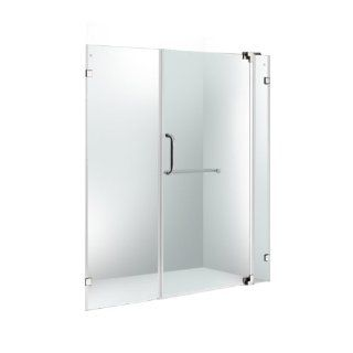 "VIGO VG6042CHCL60 60 inch Frameless Shower Door 3/8"" Clear Glass Chrome Hardware"