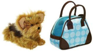 Fur Real Friends Teacup Pups   Yorkie (blue purse) Toys & Games