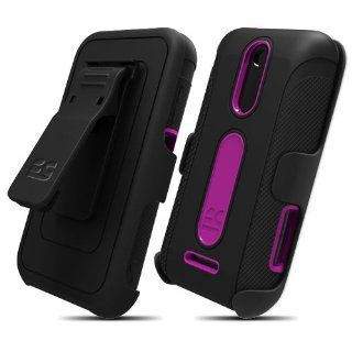Duo Shield Combo for ZTE Score M X500M & ZTE Score X500, Black/Purple Cell Phones & Accessories